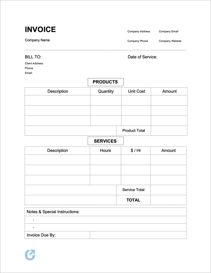 Free Simple Basic Invoice Template Pdf Word Excel