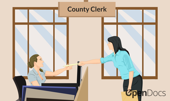 Filing a Small Estate Affidavit with the County Clerk.