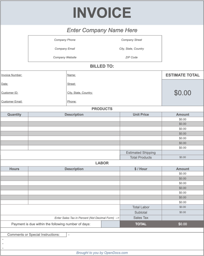 free google sheets invoice templates. Black Bedroom Furniture Sets. Home Design Ideas