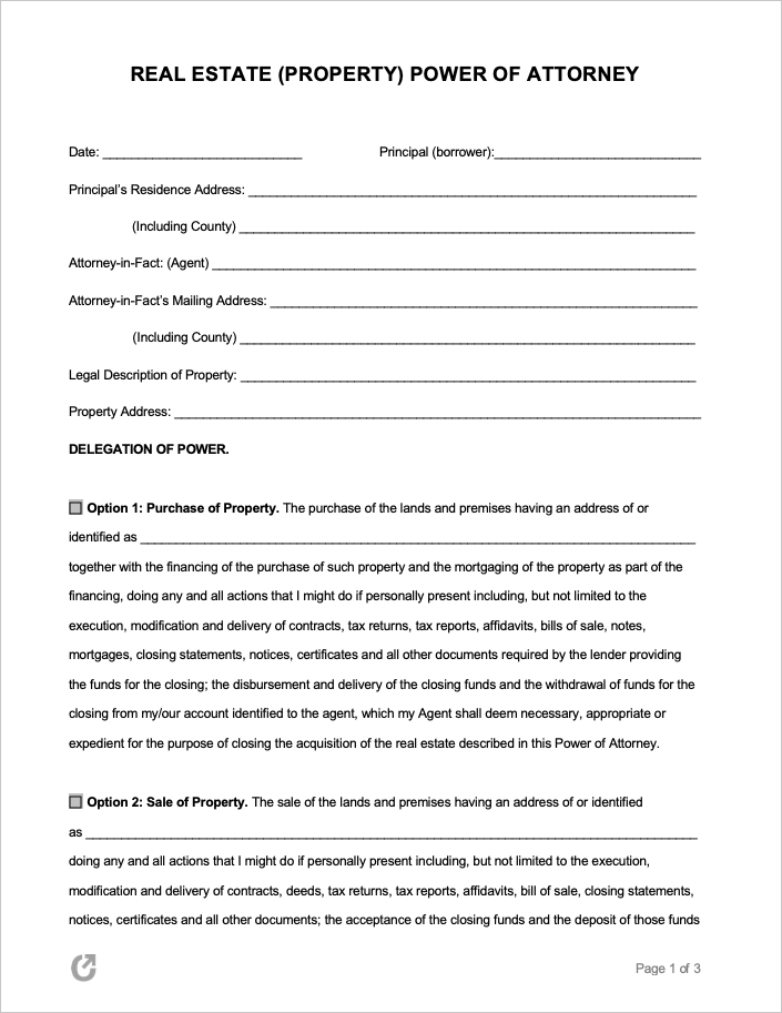 Free Sample Power Of Attorney Letter from opendocs.com